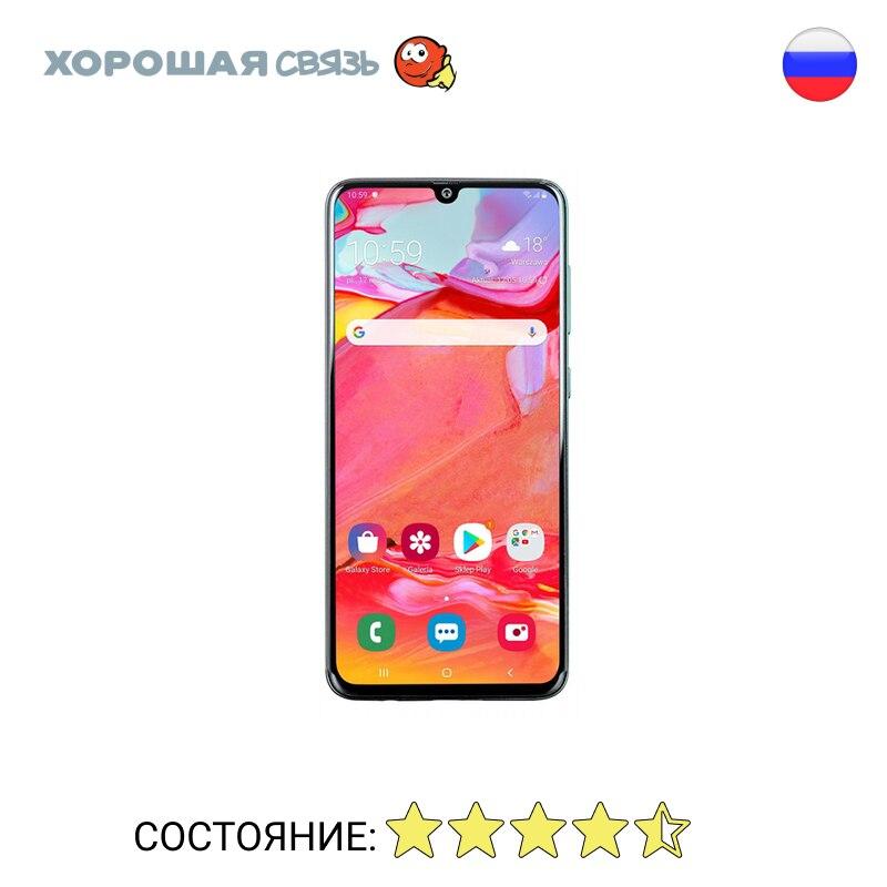 Телефон Samsung A705F/DS Galaxy A70 128Gb, уцененный, б/у, Отличное Состояние