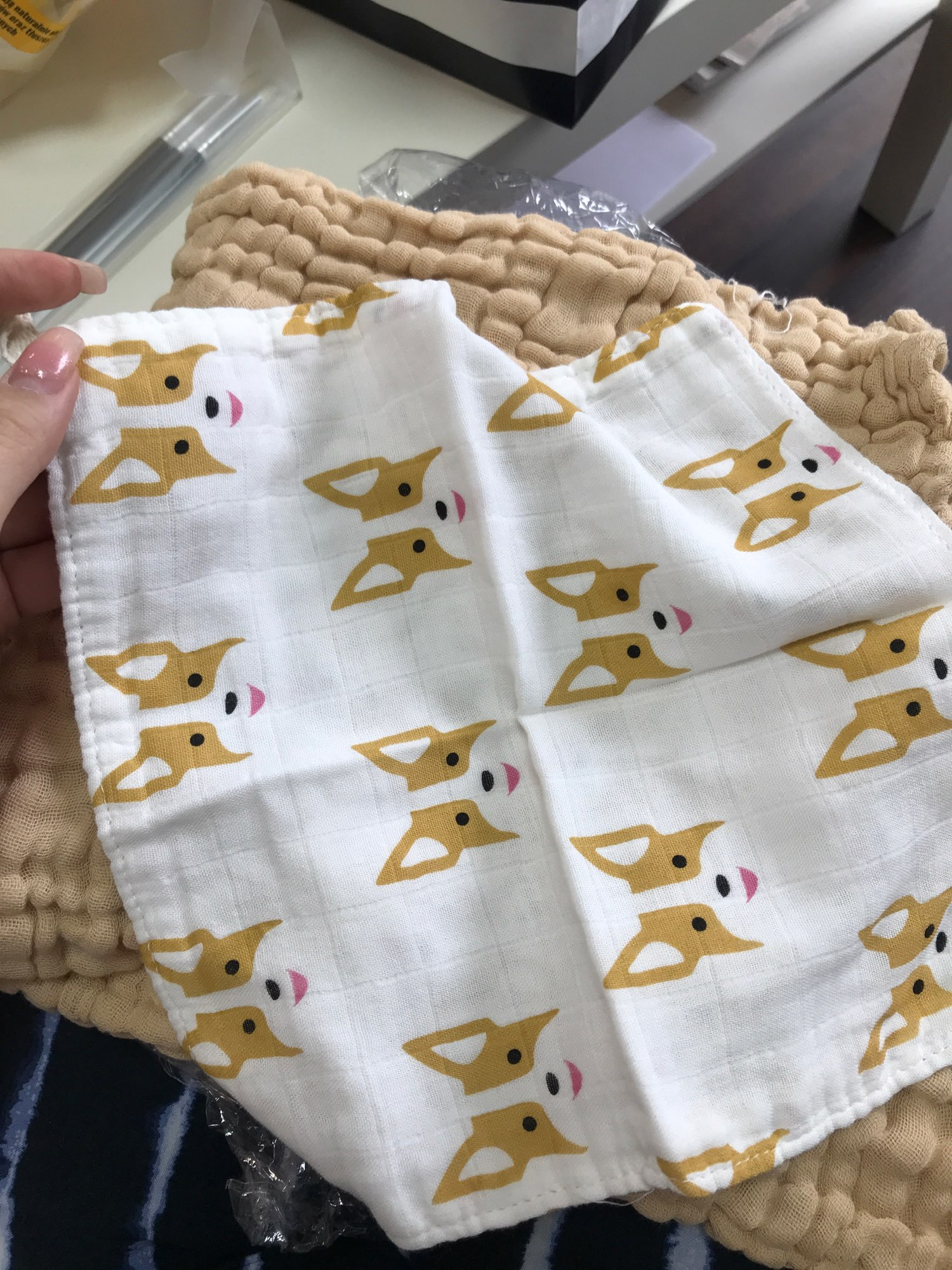 6 Layers Bamboo Cotton Baby Receiving Blanket Infant Kids Swaddle Wrap Blanket Sleeping Warm Quilt Bed Cover Muslin Baby Blanket photo review