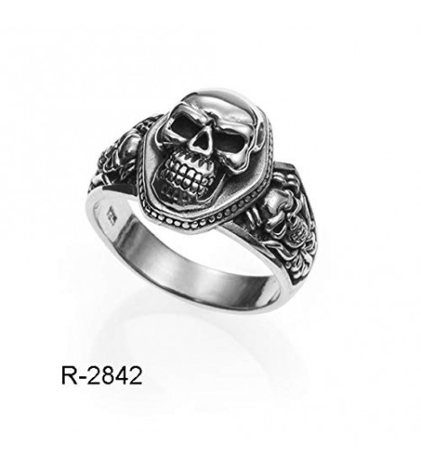 Ring Silver Skull San Death, Made In Spain Solid Silver (22)