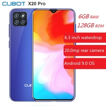 CUBOT X20 Pro 4G Smartphone 6.3 inch Android 9.0 Helio P60 Octa Core 6GB