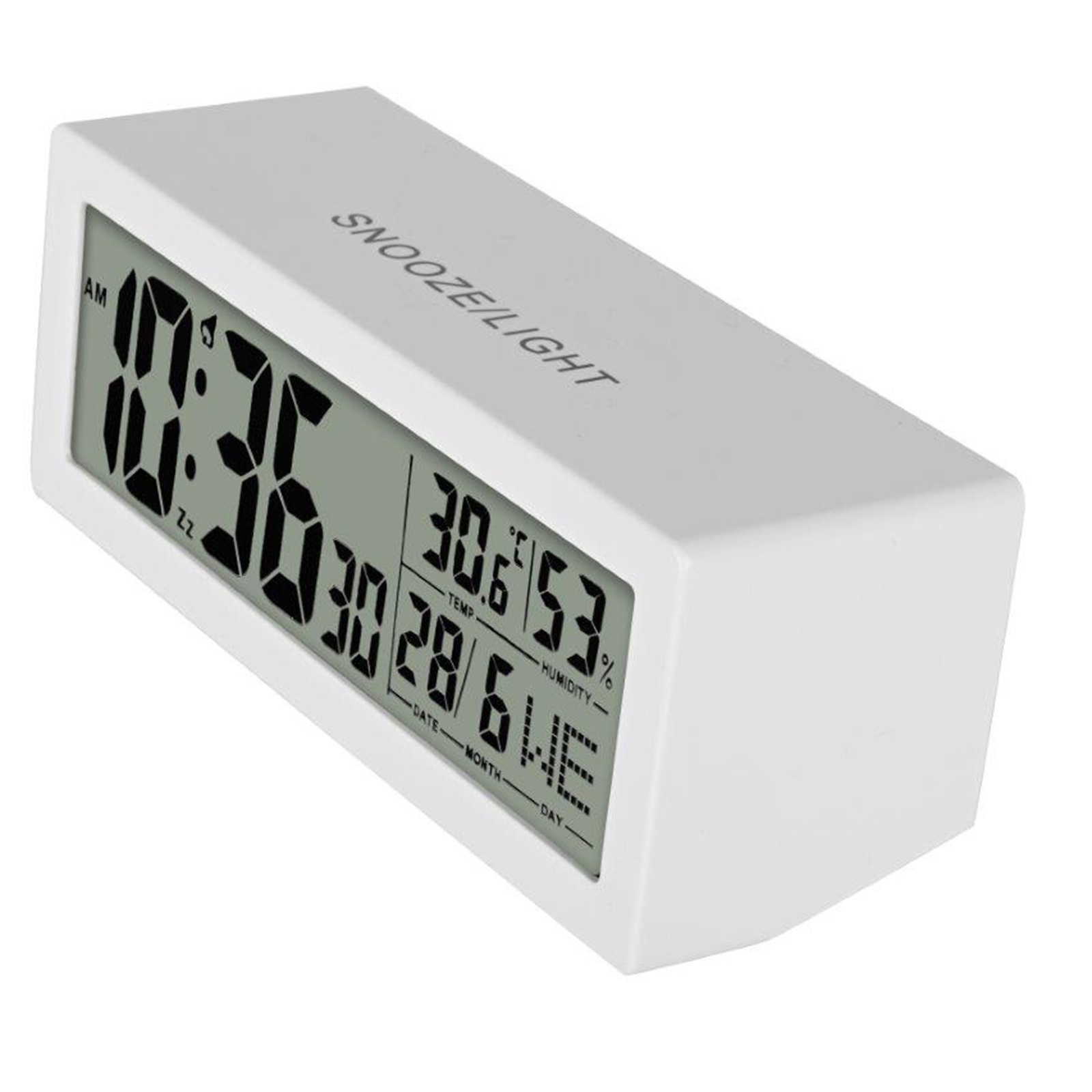 Ebebek MACK Digital Table Clock Thermometer White