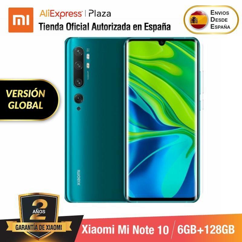 Xiaomi Mi Note 10 (128GB ROM con 6GB RAM Cámara 108MP Android Nuevo Móvil)  [Teléfono Móvil Versión Global para España] minote10