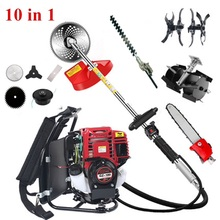 GX35Backpack 10 in 1 Brush cutter 4 stroke GX35 Engine Petrol strimmer Grass cutter tiller tool cultivator trimmer