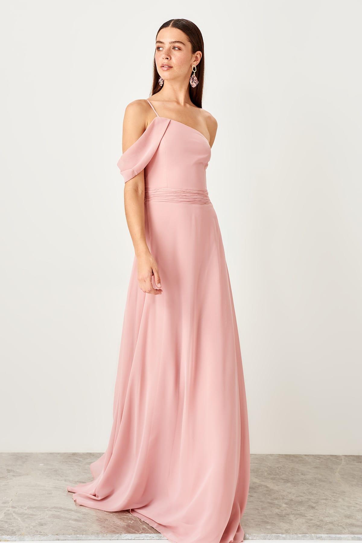 Trendyol Nervur Detailed Evening Dress TPRSS19BB0294