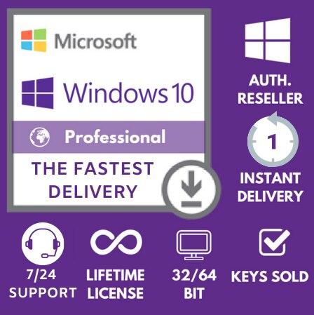WINDOWS LICENSE Activation Online Key-Instant-Delivery 1-Minute-Lifetime-Global 10-Pro