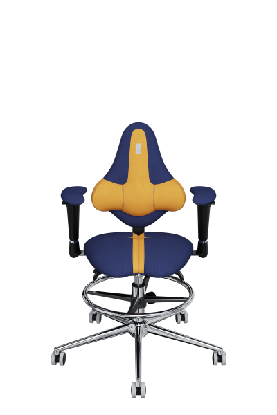 Chair Office KULIK SYSTEM KIDS Yellow + Blue For Children And Teenagers Computer Эргономичное 5 Zones Control Spine
