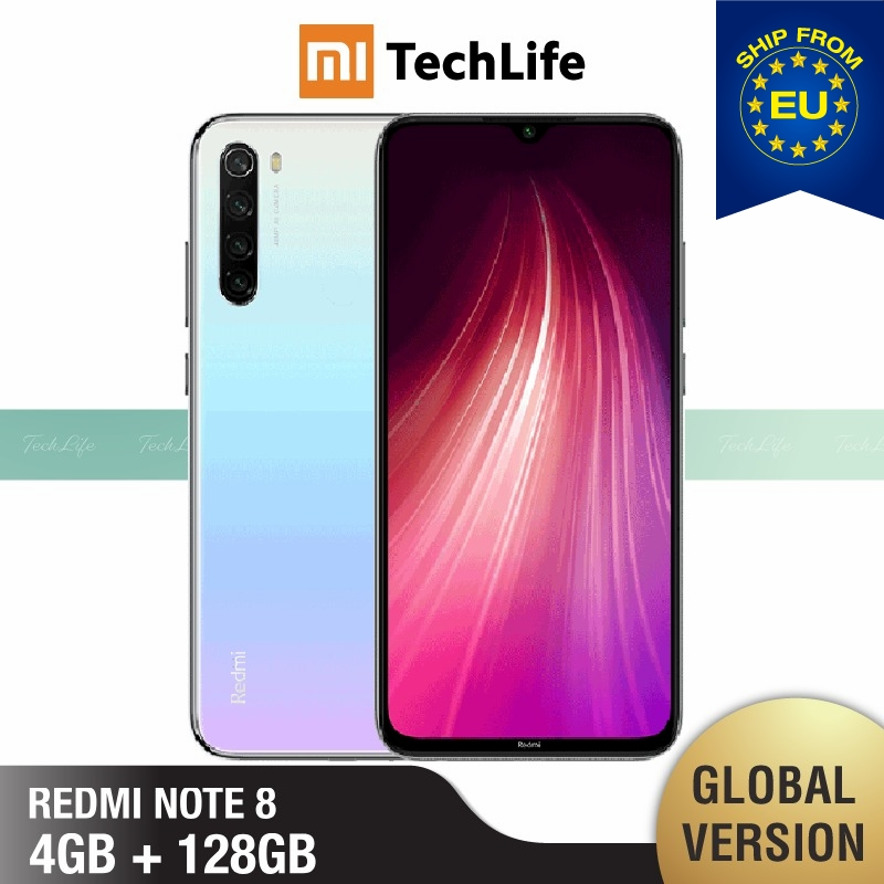 Global Version Xiaomi Redmi Note 8 128GB ROM 4GB RAM (Brand New / Sealed) Note 8, Note8, Smartphone Mobile