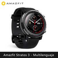Смарт-часы Xiao mi Hua mi Amazfit Stratos 3 (умные часы с bluetooth, gps, спортивные, android, IOS mi watch) [глобальная версия]