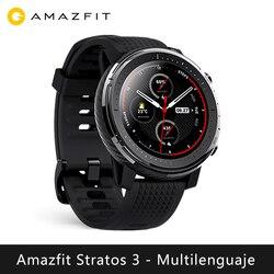 شاومي Huami Amazfit ستراتوس 3 ساعة ذكية (بلوتوث ساعة ذكية لتحديد المواقع الرياضة أندرويد IOS mi ساعة) [الإصدار العالمي]
