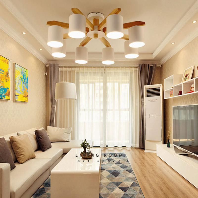 modern chandelier wooden LED chandelier dining led light ceiling living ceiling lamp bedroom LED ceiling lights factory direct