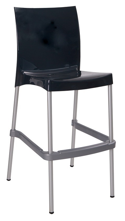 Stool NICAL, Stackable, Polypropylene Black Glitter