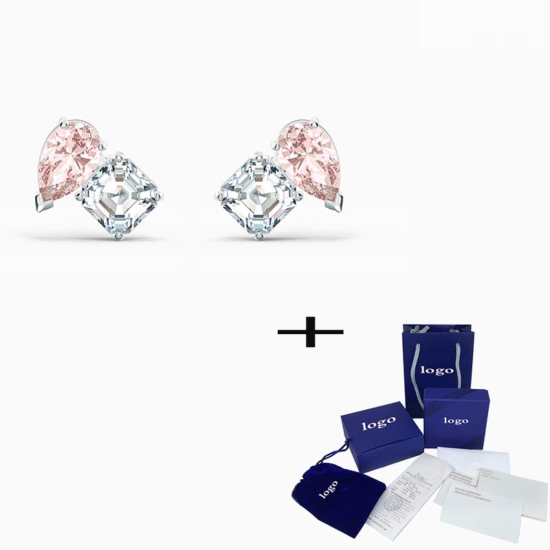 2020 New Simple Fashion High Quality Attract Soul Pink Earrings Original Suitable For Women Jewelry Delicate Romantic Gifts