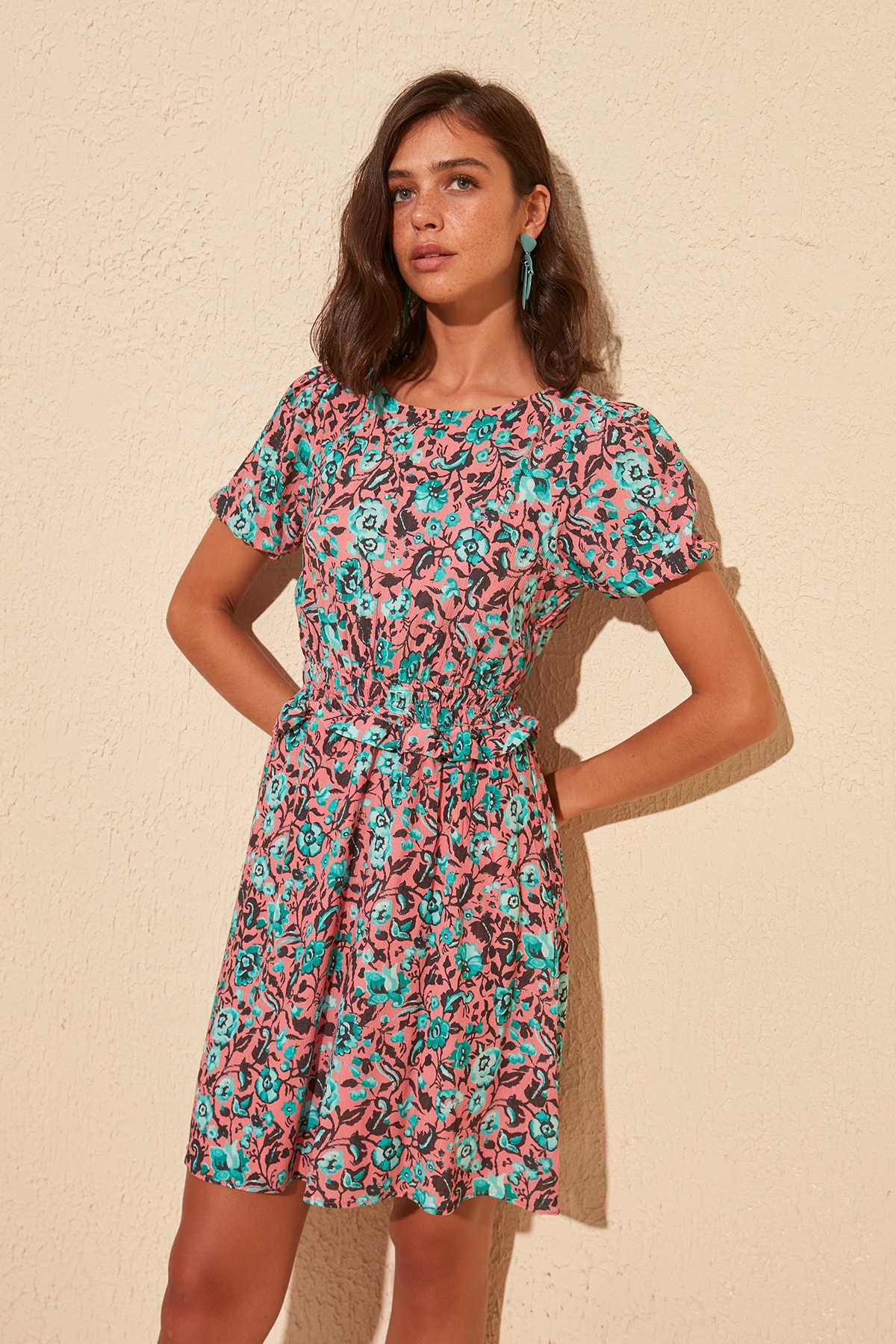 Trendyol Flower Decorated Dress TWOSS20EL1531