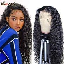 4x4 fechamento do laço peruca onda de água encaracolado peruca de cabelo humano remy perucas de cabelo humano para preto pré arrancado linha fina descorado nó