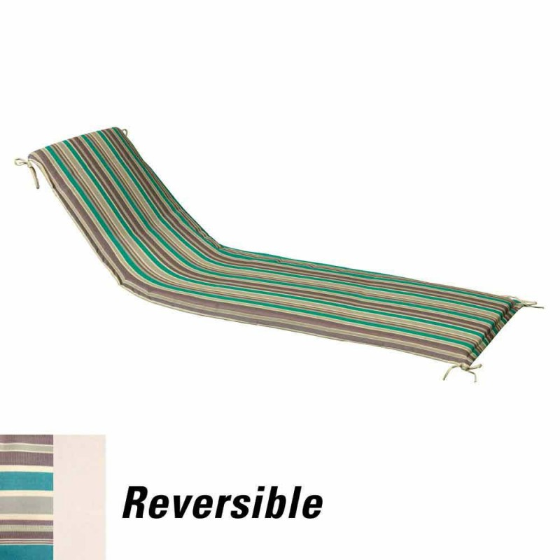 Cushion For Lounger 200x65x5 Cm. Striped Removable