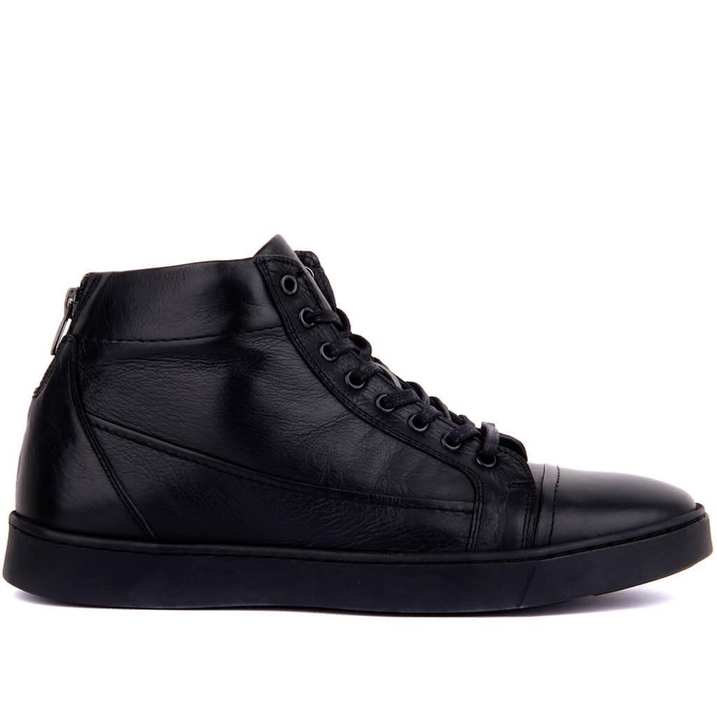Мужские ботинки из черной кожи Sail Lakers