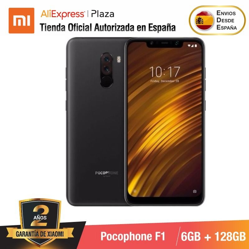 [Global Version For Spain] Xiaomi Pocophone F1 (Memoria Interna De 128GB, RAM De 6GB, Camara Dual De 12MP+5MP, Snapdragon 845)