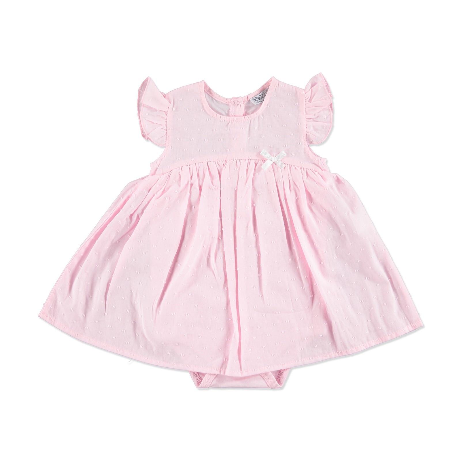 Ebebek HelloBaby Summer Baby The Cutiest Patterned Dress Bodysuit