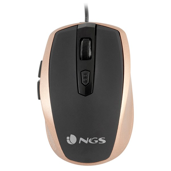 Optical Mouse NGS TICKGOLD OPTICAL USB 800-1600 DPI Black