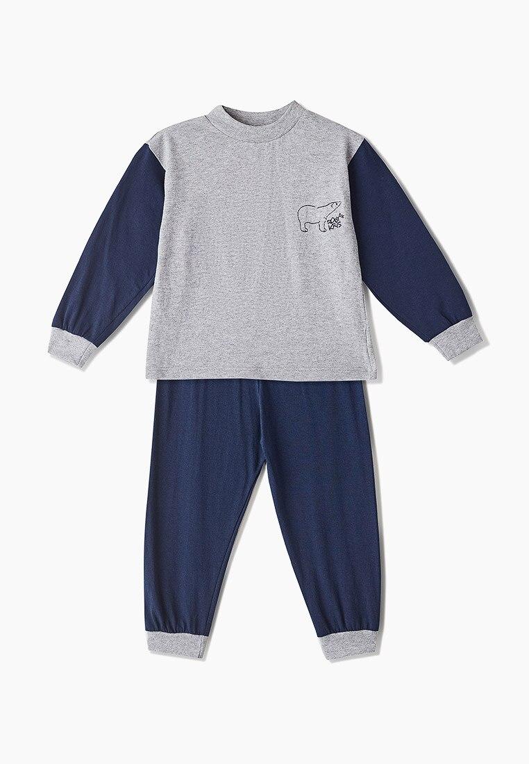 Пижама детская, для мальчиков, хлопковая, комплект домашней одежды, RobyKris 40 35 12 серый синий|Комплекты пижам| | АлиЭкспресс