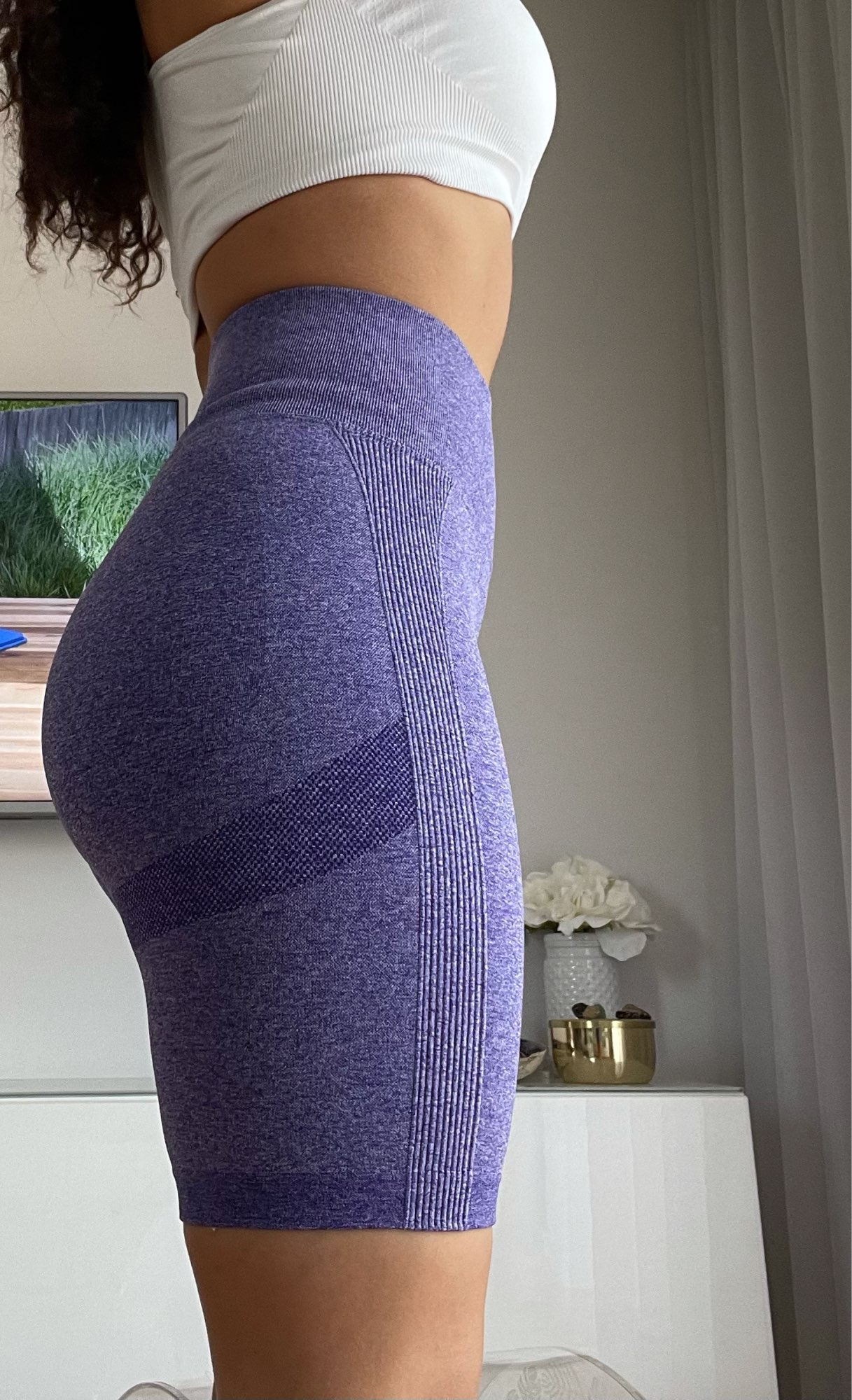 Seamless Sport Shorts for Women With Push Up photo review