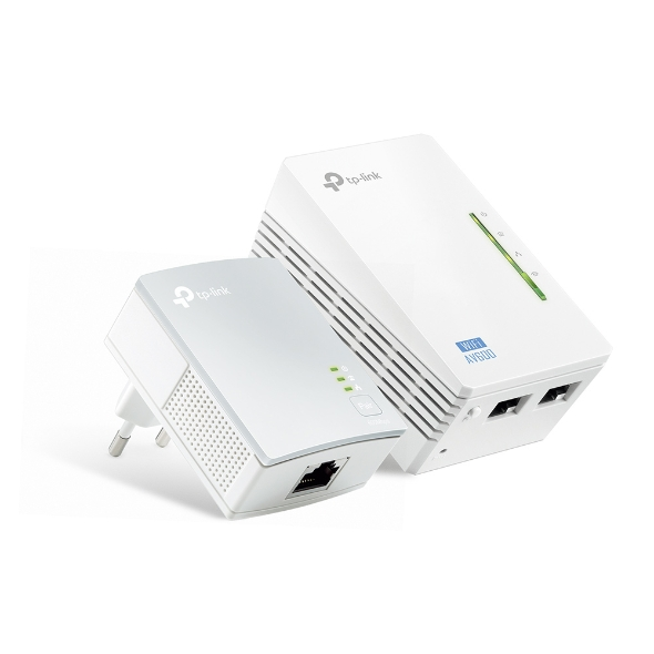 TP-LINK TL-WPA4220KIT Kit Extender Powerline WiFi AV500 A 300 Mbps Ethernet Cable, 3 Ports, PLC With WiFi-new