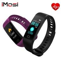 Imosi y5 inteligente pulseira ips tela ip67 freqüência cardíaca monitor de pressão arterial fitness rastreador bluetooth para android ios dropshipping