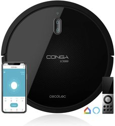 Cecotec Conga Robot vacuum cleaner range 1090. Vacuum, sweep, scrub and pass the mop. 4 in 1. Control with App, double deposit