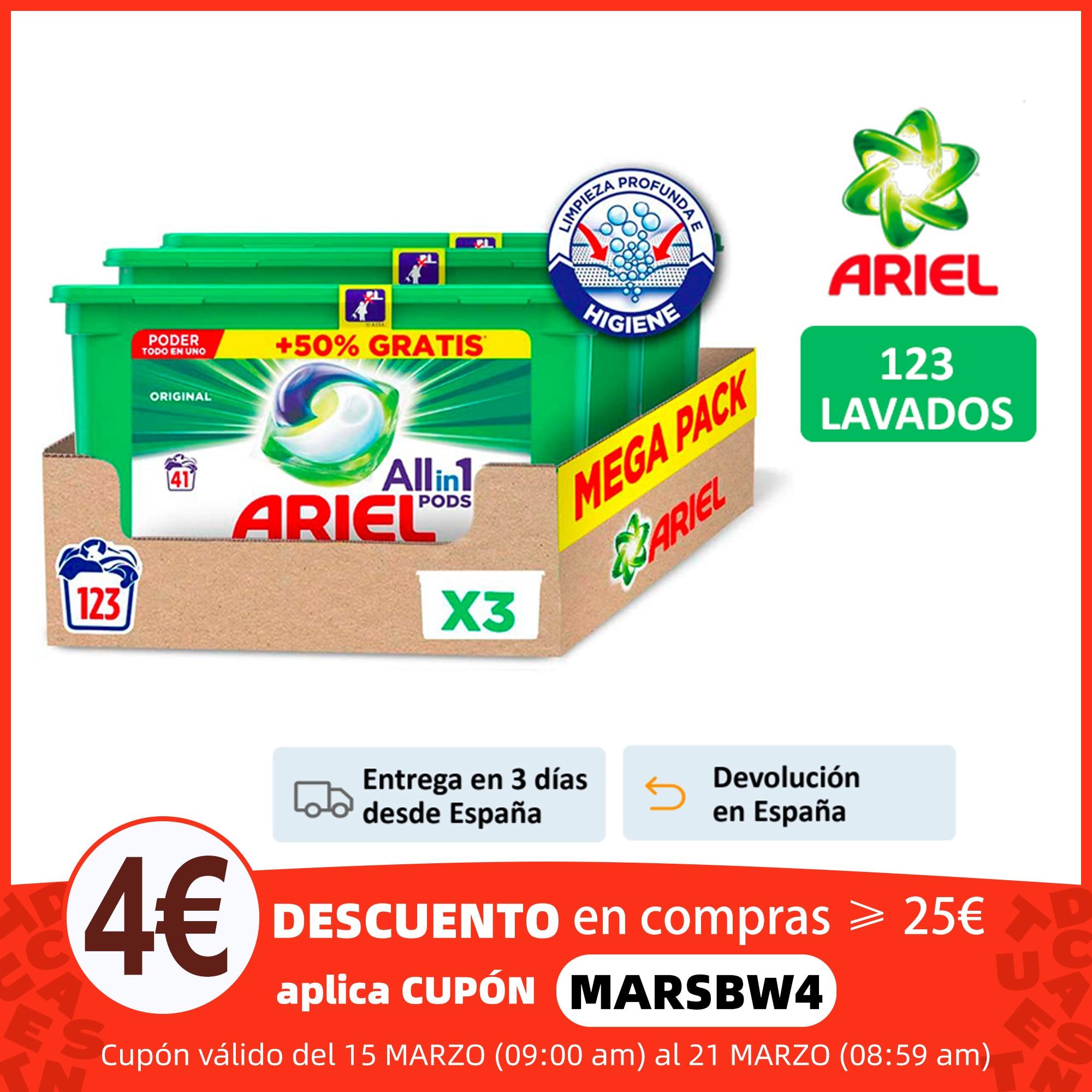 Ariel Allin1 Pods Original, 123 Lavados, Detergente Para la Ropa, 3 Paquetes de 41 Cápsulas,Poder De Limpieza y Perfume Duradero Detergente para ropa  - AliExpress