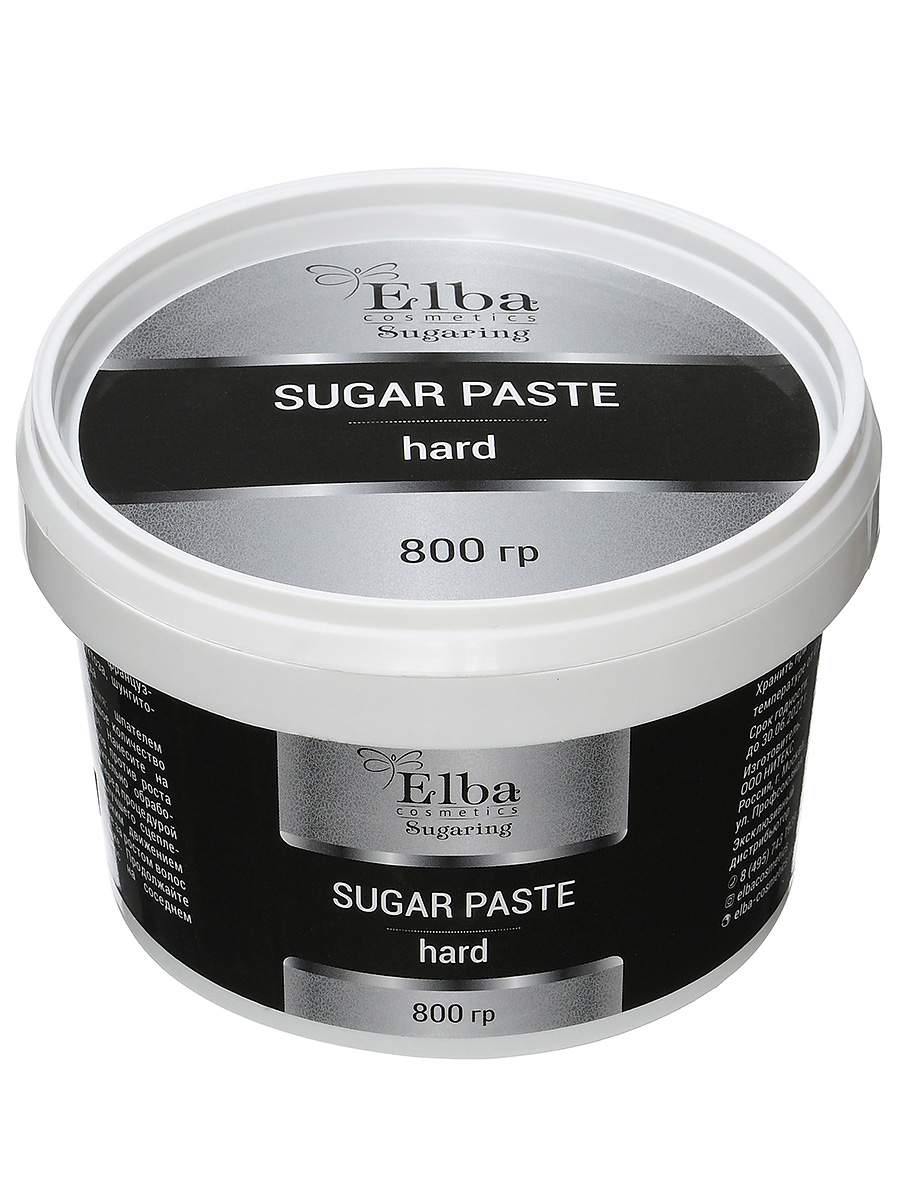 Сахарная паста с шунгитом плотная 800гр elba cosmetics