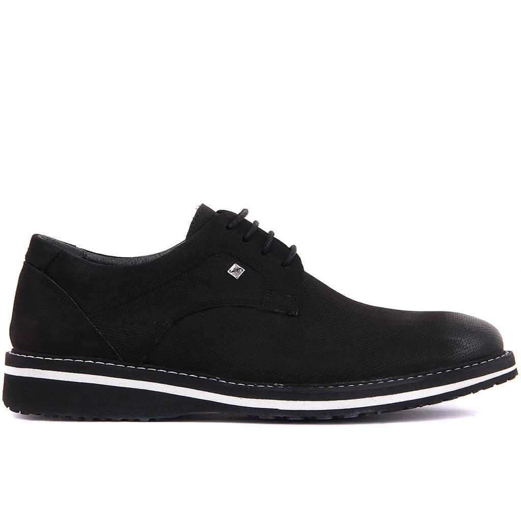 Fosco-Black Nubuck Men Casual Shoes