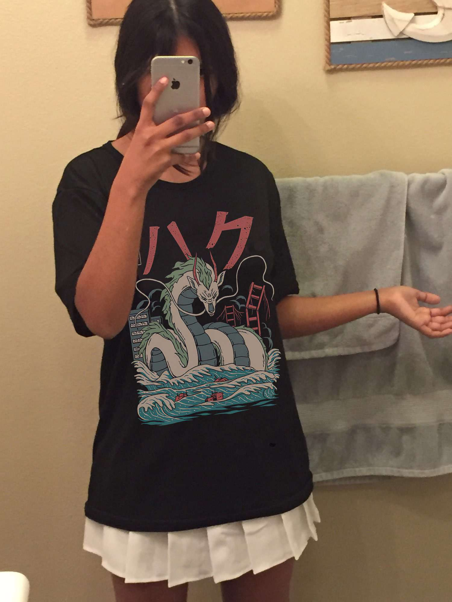 Harajuku T-Shirts with anime prints My Neighbor Totoro and Spirited away photo review