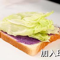 紫薯三明治的做法,小兔奔跑轻食简餐教程的做法图解2