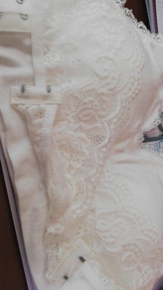Adjustable Front Cross Push-Up Lace Bra - mysticridges photo review