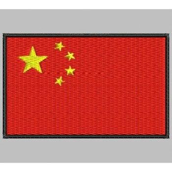 Bandera Trung Quốc Para Mascarilla Parche Bordado Sắt Miếng Dán Toppa Ricamata Gestickter Miếng Dán Miếng Dán Brode
