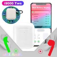 i9000 TWS Aire 2 Original 1:1 5.0 Bluetooth Headphones Earphone Qi Wireless Charging POP Up In Ear Smart Sensor PK i100 i200 tws