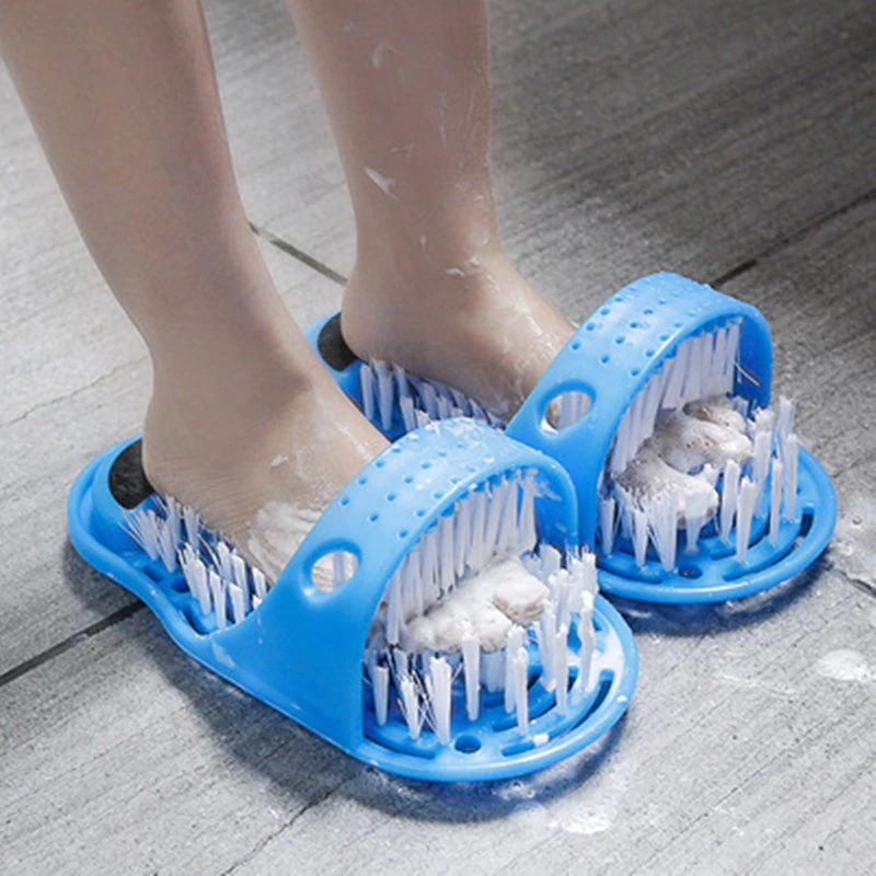 Massage-Slipper Brush Bath-Shoe Foot-Scrubber Dead-Skin Plastic with Household Remove