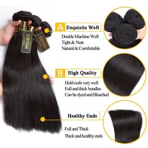 Image 5 - QT Brazilian Hair Weave Bundles 40 32 inch Straight Hair Bundles 100% Human Hair Bundles Remy Brazilian Straight Hair extensions