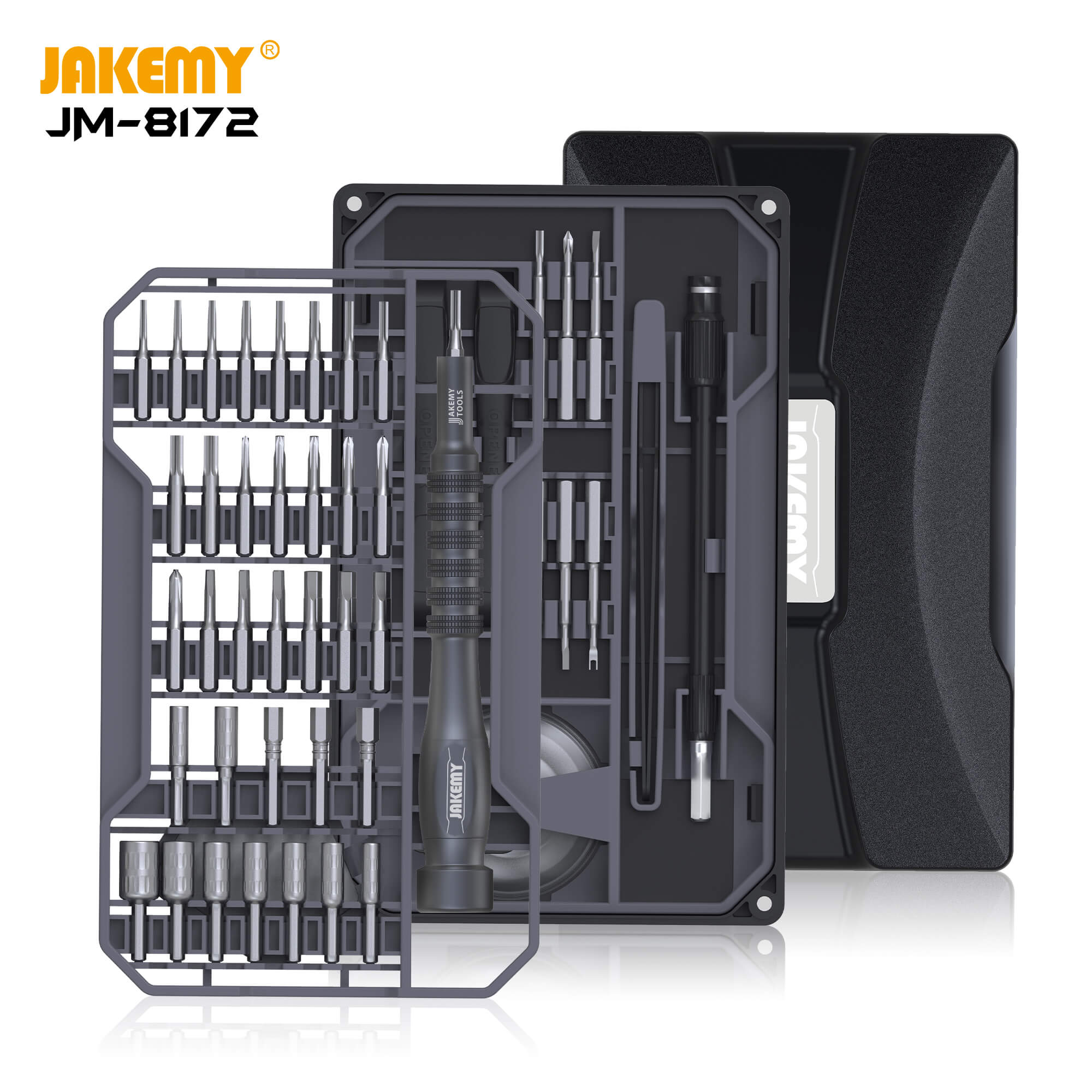 JM-8172 Multifunctional Screwdriver Repair Tool Set with S2 Magnetic Driver Bits for Home DIY Improvement