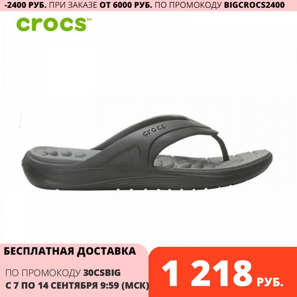 CROCS Crocs Reviva Flip M UNISEX Тапочки      АлиЭкспресс