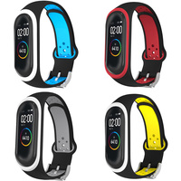 Straps flexible silicone refill replacement for Xiaomi Mi Band 3 / Mi Band 4 colors waterproof metal closure