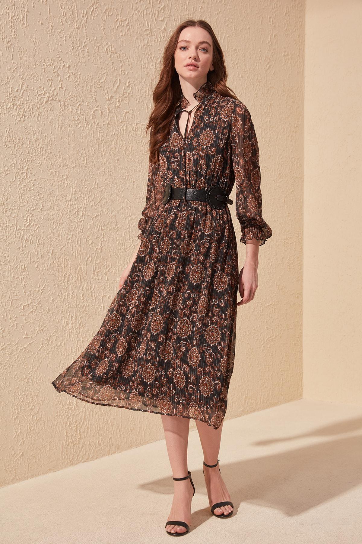 Trendyol Patterned Dress TWOSS20EL0593