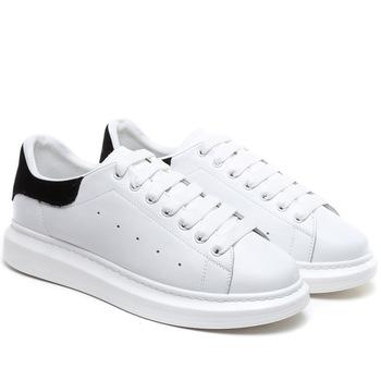 Crocodile męskie i damskie skórzane buty deskorolkowe Street Sneaker buty sportowe dla kobiet wysokość zwiększ białe obuwie tanie i dobre opinie Unisex RUBBER Lace-up Pasuje prawda na wymiar weź swój normalny rozmiar Spring2018 8850 Skóra Classics Przyszłość tekkies lite