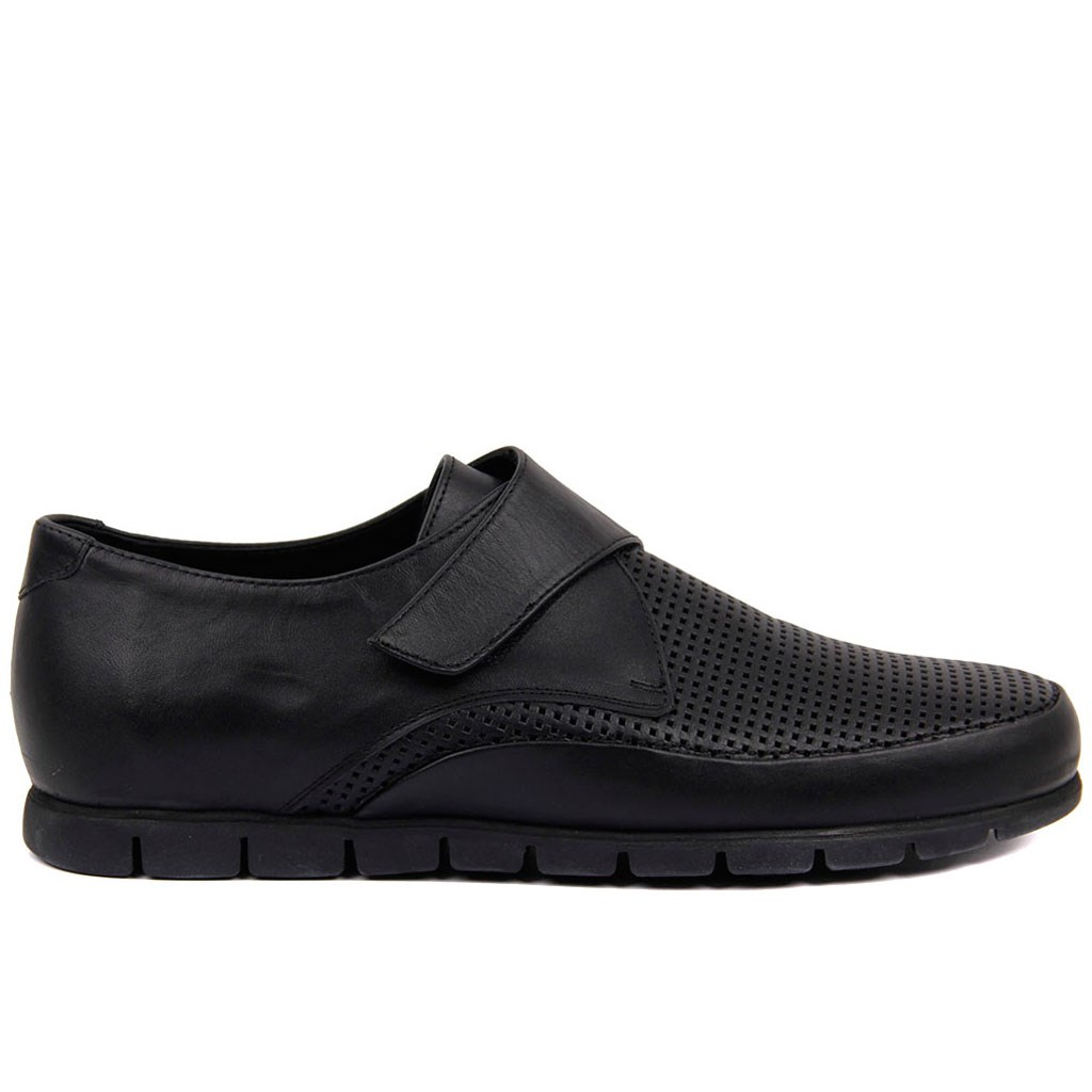 Sail-Lakers Black Velcro Men Daily Shoes Sneakers