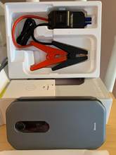 Good Car Jump and Power Bank. No damages good packaged. Looks smart and massive at same ti