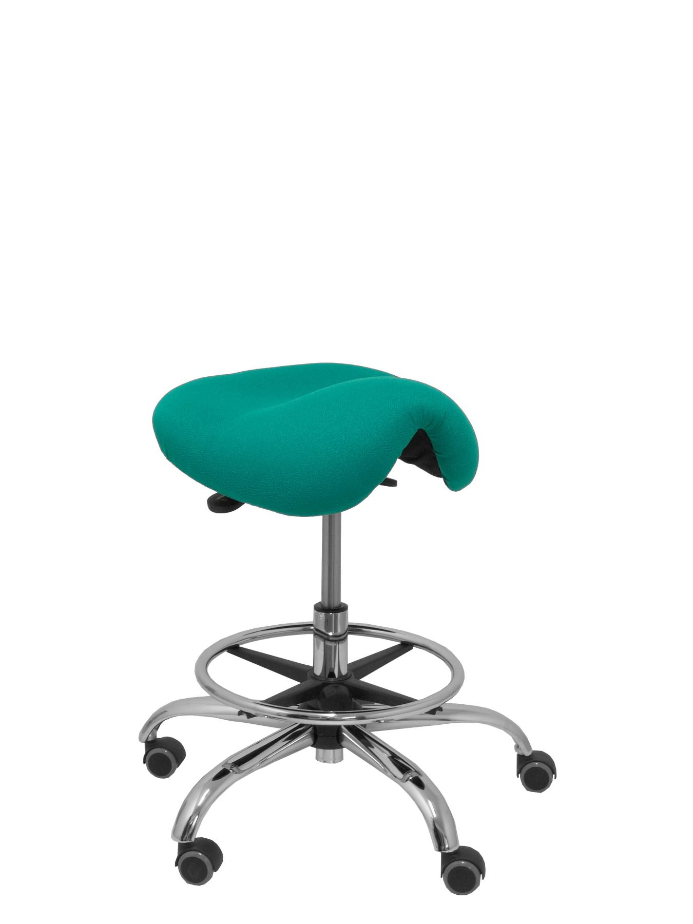Stool Clinical Rotatable And Ergonomic Seat Anatomical And Adjustable Height (aro Footrest Chrome INCLUDED)