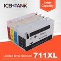 ICEHTANK 711 711XL многоразовый картридж для принтера HP Designjet T120 24 T120 610 T520 24 T520 36 T520 610 T520
