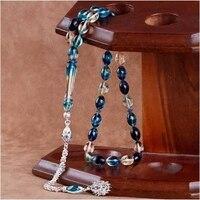 Turquoise Tightening Amber Rosary Tasbih For Man İslam Tasbih Prayer Beads Stylish Imameh 925 Sterling Silver