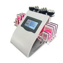 6 в 1 Вакуумная фотокавитация rf Массажная машина для похудения