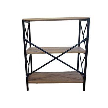 Navis Home 3 półka metalowa półka na książki regał na buty prosty stalowy i drewniany regał prosty półka salon regał tanie i dobre opinie TR (pochodzenie) Ogród zestaw Meble ogrodowe Nowoczesne Drewniane